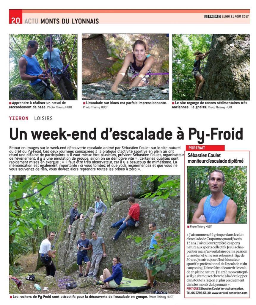 VERTICAL Sensation dans la presse Lyon (69) en Rhône-Alpes