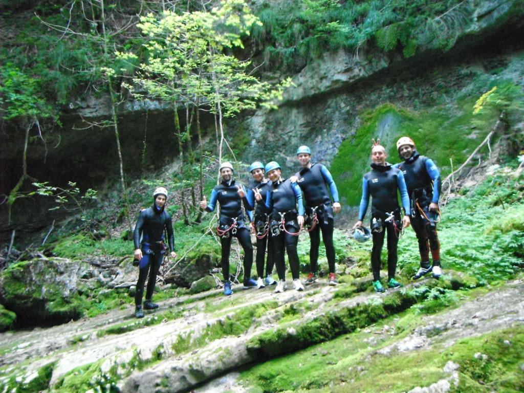 comité d'entreprise sport de nature Lyon (69) Canyoning, escalade, via-ferrata, via-cordata