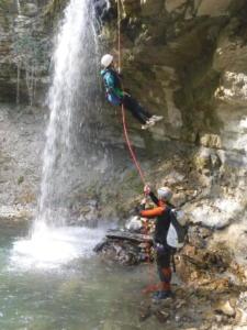 Canyon Ain descente corde