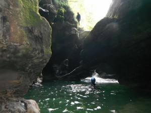 la nage en canyon